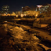 Confluence Park Rapids At Night Poster