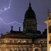 Congreso Lightning Poster by Balanced Art