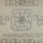 Connecticut-type Hadley Chest-detail Of Central Panel Poster