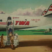 Connie Crew Deplaning At Columbus Poster