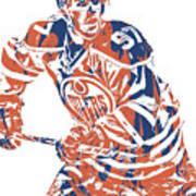 Connor Mcdavid Edmonton Oilers Pixel Art 3 Poster