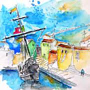 Conquistador Boat In Portugal Poster