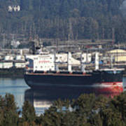 Container Ship Ready To Load More Lumber Poster