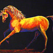 Contemporary Equine Painting Illuminating Spirit Poster