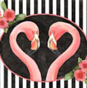 Contemporary Flamingos 1 Poster