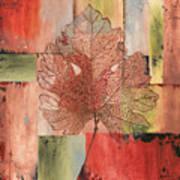 Contemporary Grape Leaf Poster