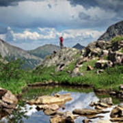 Continental Divide Above Twin Lakes 4 - Weminuche Wilderness Poster