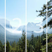 Controlled Burn Of Yosemite Panoramic Map Poster