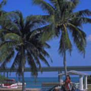 Convertible On Pigeon Key In Florida Poster