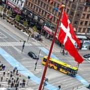 Copenhagen Downtown Traffic Poster