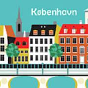 Copenhagen Kobenhavn Denmark Horizontal Scene Poster