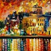 Copenhagen Original Oil Painting  Poster