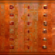 Copper Abstract Poster