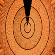 Copper Panel Abstract Poster