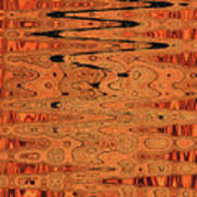 Copper Plates Double Abstract Poster