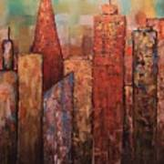 Copper Points, Cityscape Painting Poster