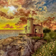 Coquille River Lighthouse 4 Poster