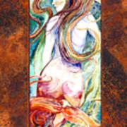 Coral Mermaid Poster