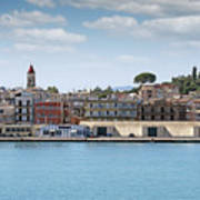 Corfu Town Port With Warehouses Poster