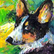 Corgi Dog Portrait Poster