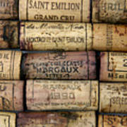 Corks Of French Wine Poster