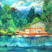 Cornell Boathouse Poster by Ethel Vrana