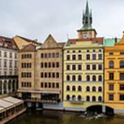 Corner Buildings In Prague Poster