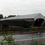 Cornish Windsor Covered Bridge Poster