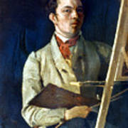 Corot With Easel, 1825 Poster
