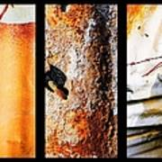 Corrugated Iron Triptych #10 Poster