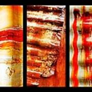 Corrugated Iron Triptych #4 Poster