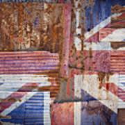 Corrugated Iron United Kingdom Flag Poster
