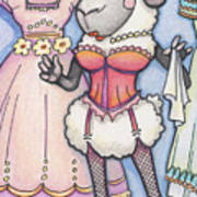 Corsetted Sheep Poster