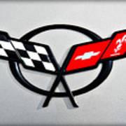 Corvette Flags II Poster by Ricky Barnard