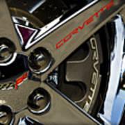 Corvette Spokes II Poster by Ricky Barnard