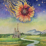 Cosmic Flower Poster