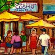 Cosmos  Fameux Restaurant On Sherbrooke Poster