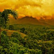 Costa Rica Volcano Poster