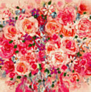 Cottage Roses Poster