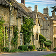 Cottage Row - Burford Poster