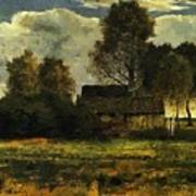 Cottages On The Dachau Marsh 1902 Poster