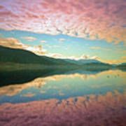 Cotton Candy Clouds At Skaha Lake Poster