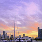Cotton Candy Sunset Over Miami Poster