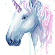 Cotton Candy Unicorn Poster