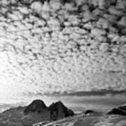 Cotton Sky Chamonix France Poster