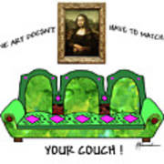 Couch Art Poster