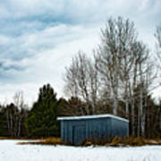 Country Barn In The Snow Poster