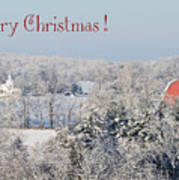 Country Christmas Poster