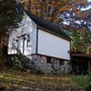 Country Cottage In Autumn Poster