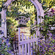 Country Garden Gate Poster